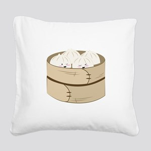 Dumplings Square Canvas Pillow