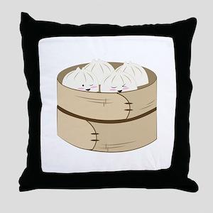 Dumplings Throw Pillow