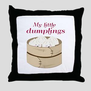 My Little Dumplings Throw Pillow