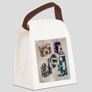 retro photographer vintage camera Canvas Lunch Bag