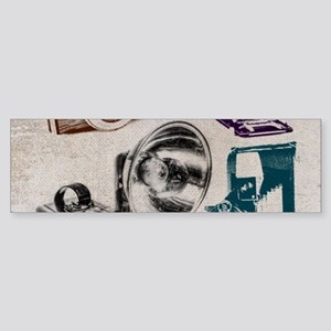 retro photographer vintage camera Bumper Sticker