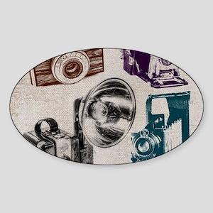 retro photographer vintage camera Sticker