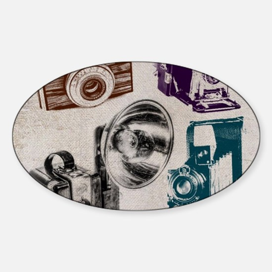 retro photographer vintage camera Decal