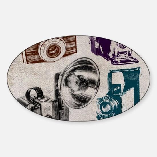 retro photographer vintage camera Stickers