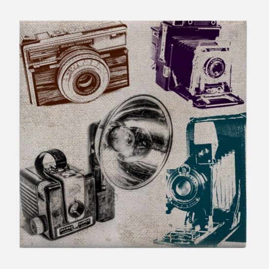 Cute Film maker Tile Coaster