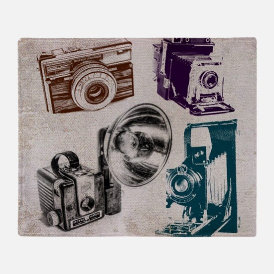 Funny Movie camera Throw Blanket