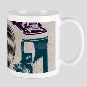 retro photographer vintage camera Mugs