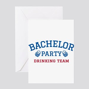 Bachelor party drinking team Greeting Cards