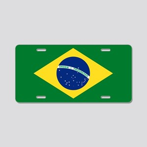 Brazil Flag Aluminum License Plate
