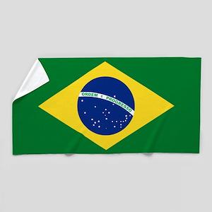 Brazil Flag Beach Towel