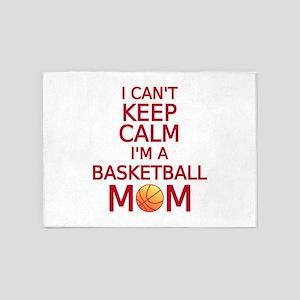 I can't keep calm, I am a basketball mom 5'x7'Area