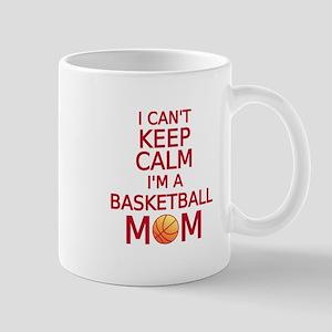 I can't keep calm, I am a basketball mom Mugs