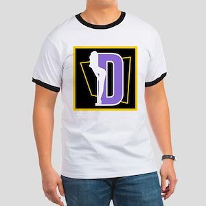 Naughty Initial Design (D) T-Shirt