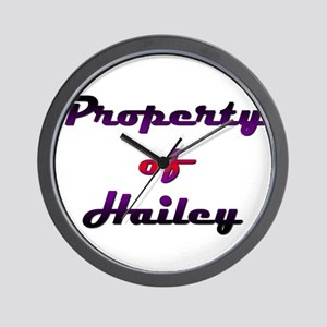 Property Of Hailey Female Wall Clock