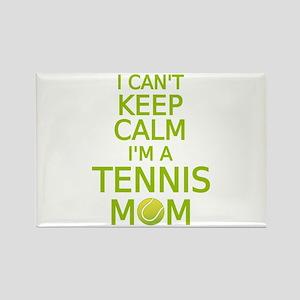 I can't keep calm, I am a tennis mom Magnets