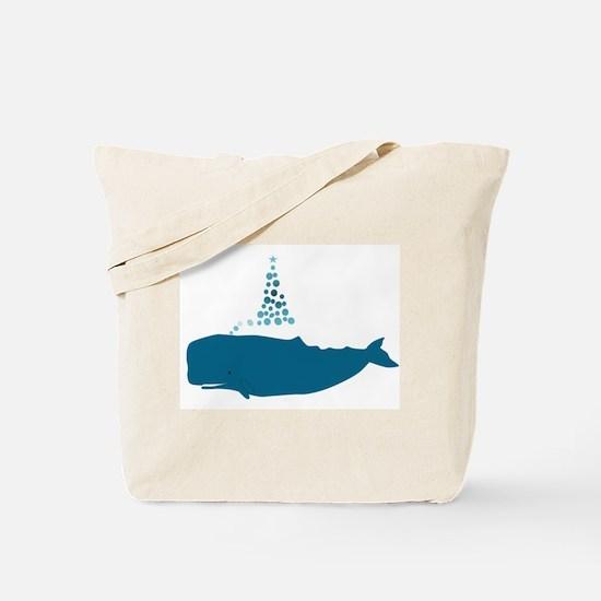 Whale Christmas Tote Bag
