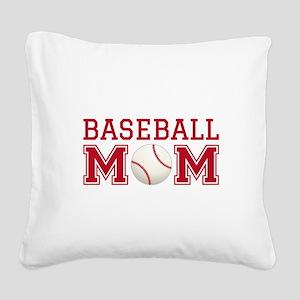 Baseball mom Square Canvas Pillow
