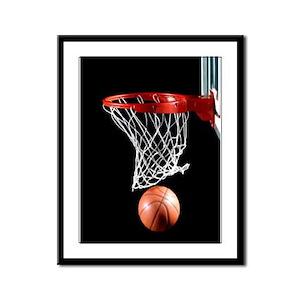 Basketball Point Framed Panel Print