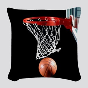 Basketball Point Woven Throw Pillow