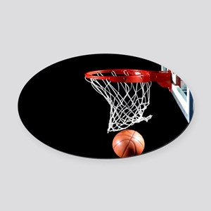 Basketball Point Oval Car Magnet