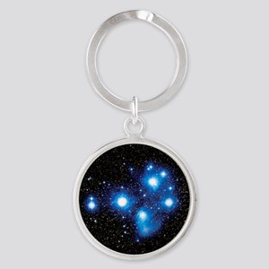 Optical image of the Pleiades star cluste Keychain