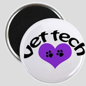 purple paw heart design Magnets