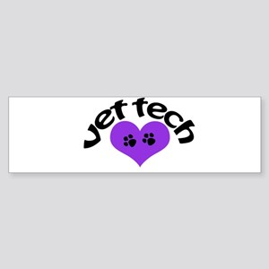 purple paw heart design Bumper Sticker