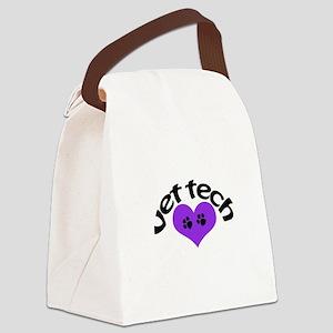 purple paw heart design Canvas Lunch Bag
