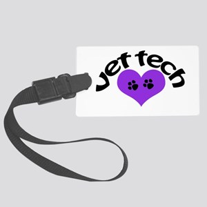 purple paw heart design Luggage Tag