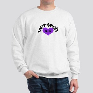purple paw heart design Sweatshirt