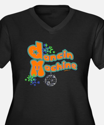 Dancin' Machine 2 Women's Plus Size V-Neck Dark T-