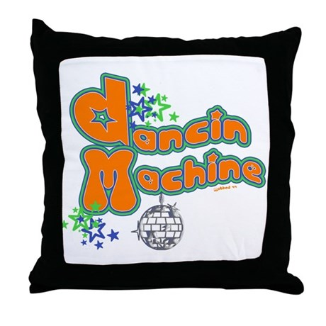 Dancin' Machine 2 Throw Pillow