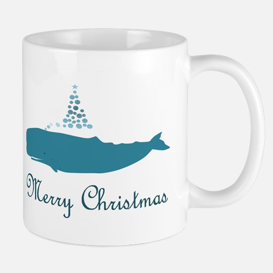 Whale Merry Christmas Mugs