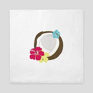 Tropical Coconut Queen Duvet