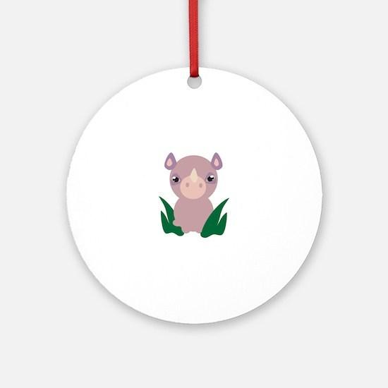 Little Rhino Ornament (Round)