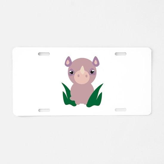 Little Rhino Aluminum License Plate