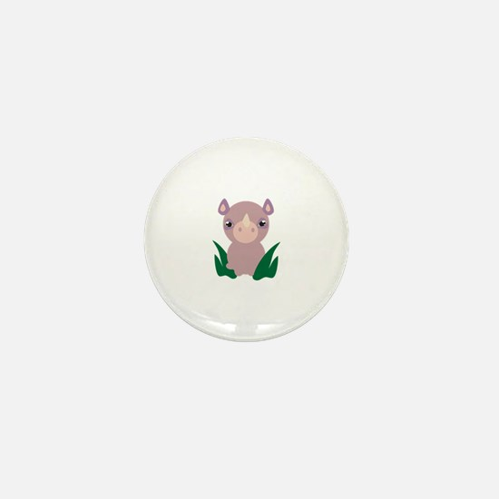 Little Rhino Mini Button