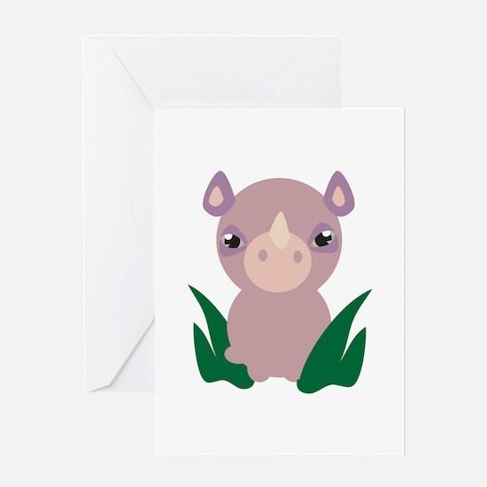 Little Rhino Greeting Cards