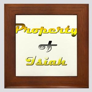 Property Of Isiah Male Framed Tile