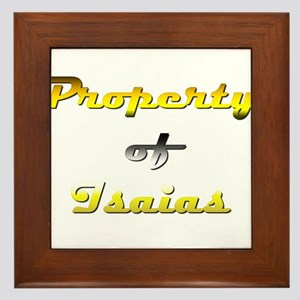 Property Of Isaias Male Framed Tile