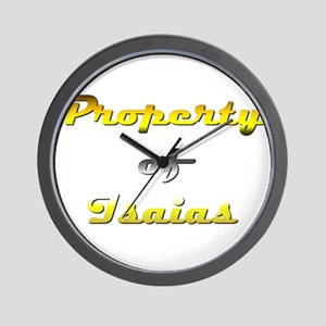 Property Of Isaias Male Wall Clock