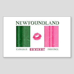 Sexy Newfoundland Flag Rectangle Sticker