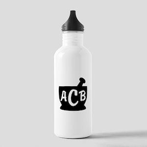 Black Monogram Mortar Stainless Water Bottle 1.0L
