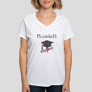 Ph.inisheD. Women's V-Neck T-Shirt