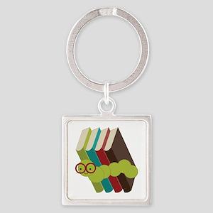 Book Lover Bookworm Keychains