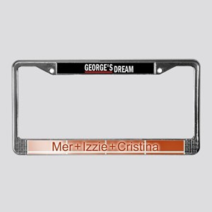 George's Dream License Plate Frame