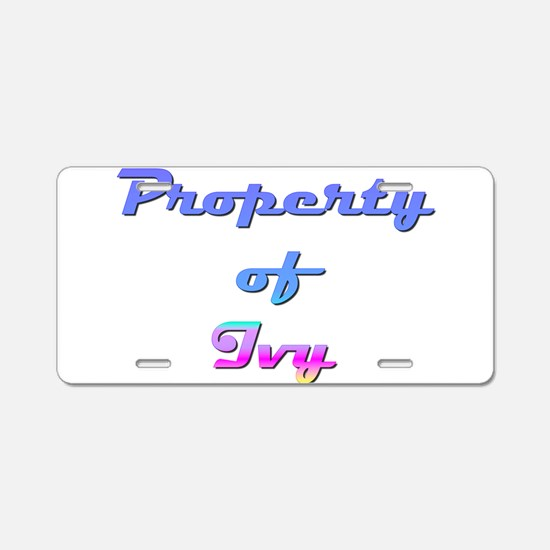 Property Of Ivy Female Aluminum License Plate