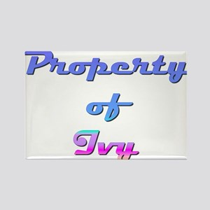 Property Of Ivy Female Rectangle Magnet