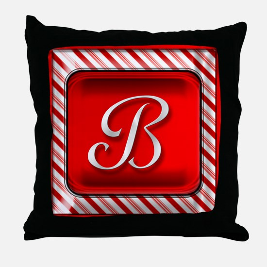 Unique Monogram b Throw Pillow