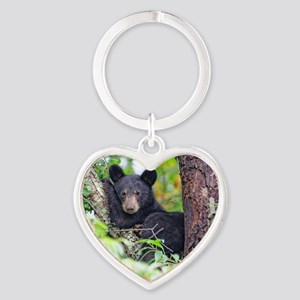 Bear Cub relaxing in Tree Keychains